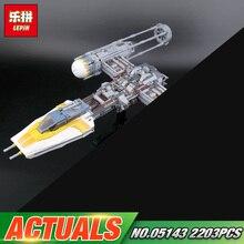 Lepin 05143 2203 Pcs Estrela Plano Série A 75181 Nova Y-asa Starfighter Conjunto Modelo de Blocos de Construção de Tijolos Brinquedos para As Crianças Como presentes