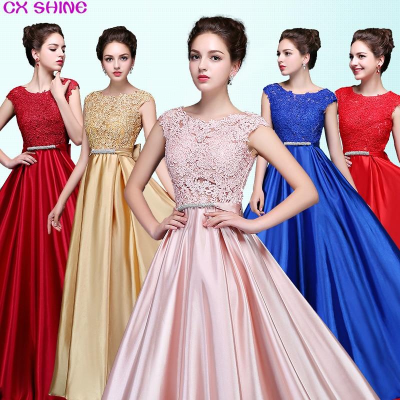 CX SHINE Custom size! Elegant lace long Evening dress tanpa lengan - Gaun acara khas - Foto 1