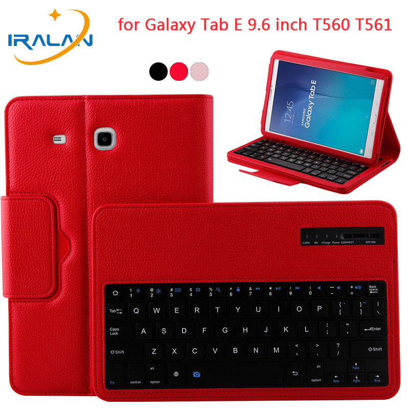 Detachable Wireless Bluetooth Keyboard Case For Samsung Galaxy Tab E 9.6 inch T560 T561 PU Leather Stand Tablet Flip Cover+Film