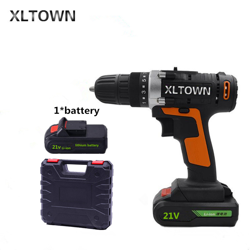 Xltown 21v Cordless Two Speed Electric Drill with a box packaging Lithium Battery Rechargeable Electric Screwdriver power tools заварочный чайник gipfel 7214 glacier memphis 800мл