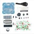 2015 НОВЫЙ DIY DS1302 Вращения СВЕТОДИОДНЫЕ Электронные Часы Комплект 51 СКМ Обучения Доска