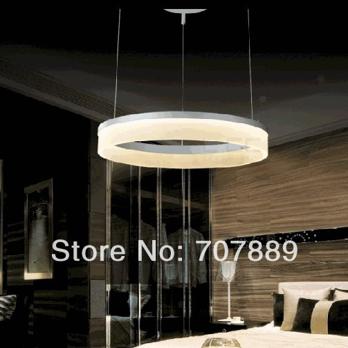 Aliexpress.com  Buy Ring LED Chandelier Lighting Fixture Silver Modern Acrylic Pendant L& Large Hotel Project Lighting White 40cm from Reliable hotel ... : large led pendant lights - azcodes.com