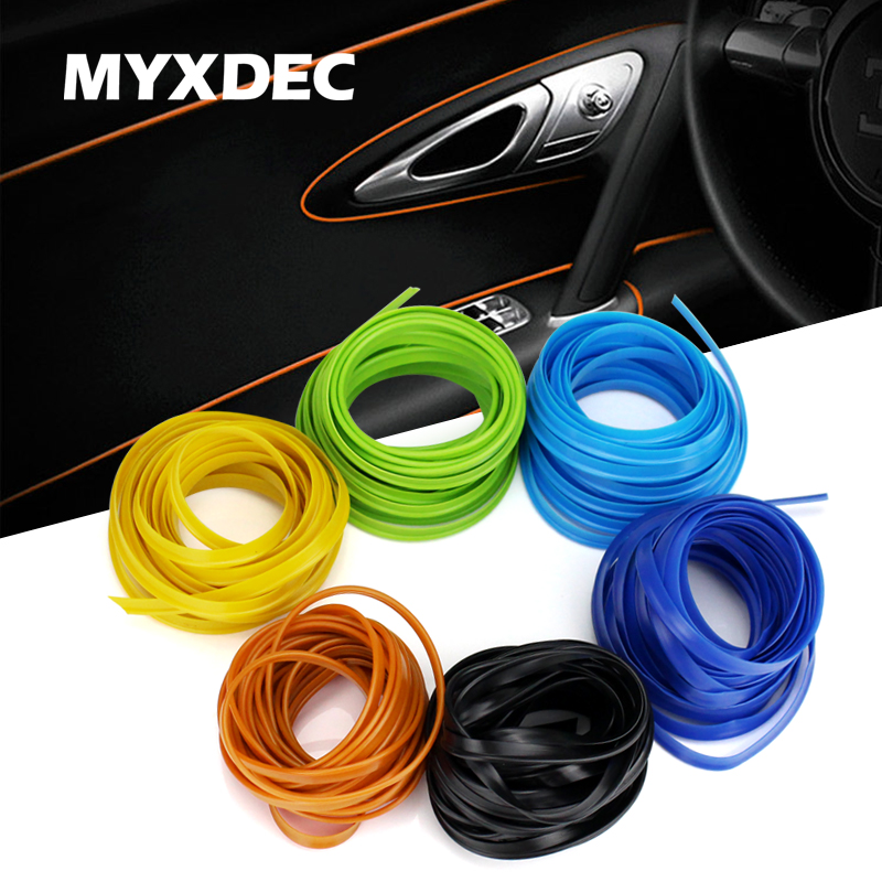5M Car Interior Mouldings Trims Decoration Line Strips Car styling Door Dashboard Air Outlet Decorative Sticker Auto Accessories-in Car Stickers from Automobiles & Motorcycles