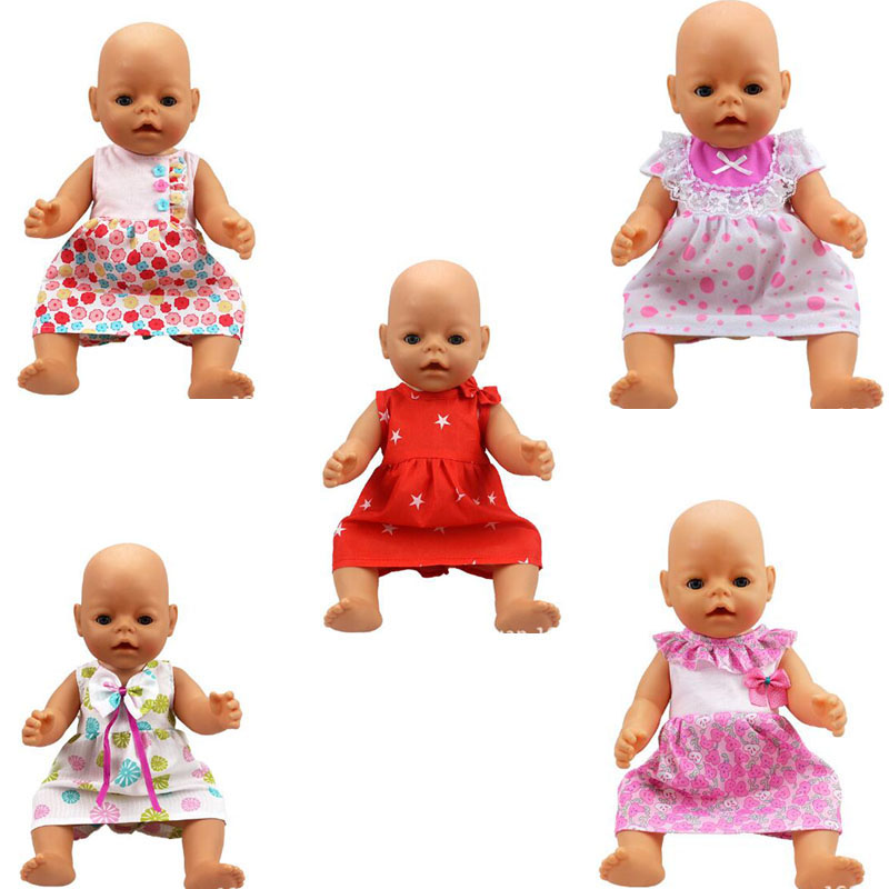 5pcs/lot August New Comes 43cm Baby Born Zapf Doll Dress Baby Born Doll Accessories Doll Clothes Children Best Gift ZDA61 rose christmas gift 18 inch american girl doll swim clothes dress also fit for 43cm baby born zapf dolls