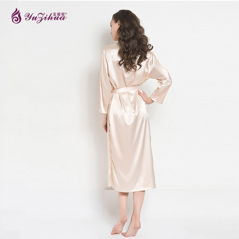 f60904b6bf Summary -  Sheer Romance Dressing Gown Robe In Peach Couture Silk