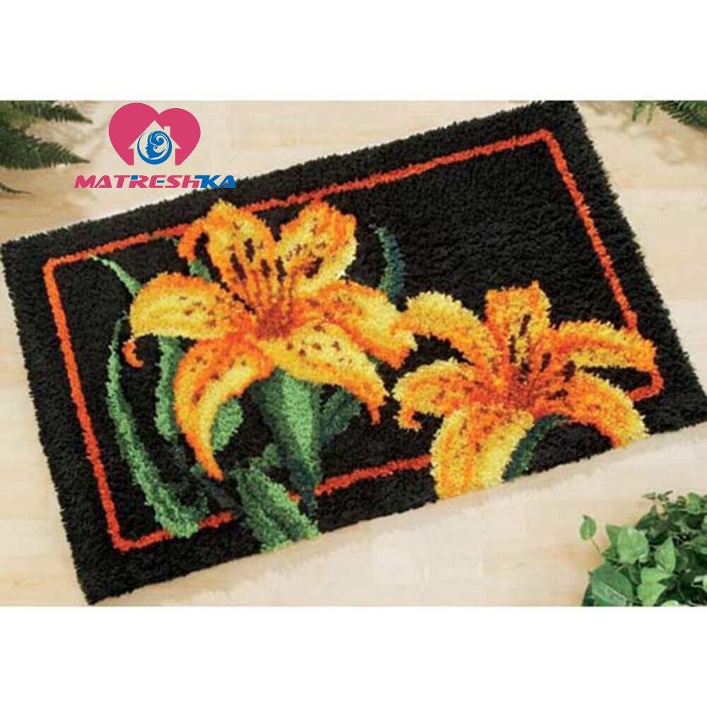 Alfombra bordada cojines gancho alfombra flores gancho alfombra kits alfombra bordado punto de cruz almohada decoración del hogar foamiran-in Aguja de lengüeta from Hogar y Mascotas    1