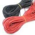 10 м/лот высокое качество провода силиконовые 10 12 14 16 18 20 22 24 26 AWG 5 м красный и 5 м черный цвет - фото