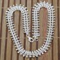 Promoción n166! venta al por mayor collar de plata 925, 925 joyería de cadena del collar de hueso de pescado