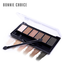 BONNIE CHOICE 6 Colors Dazzling Eye Shimmer Matte Eyeshadow Palette Waterproof Sweat-proof Cosmetics Makeup Set