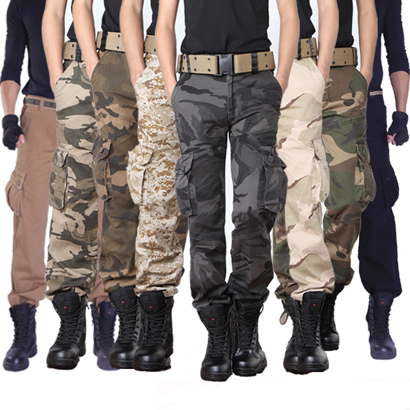 Cargo Pants Men Tactical  Pant Military Casual Camo Multi Pocket Trouser Camouflage Army Style Baggy Clothing Combat Trouser