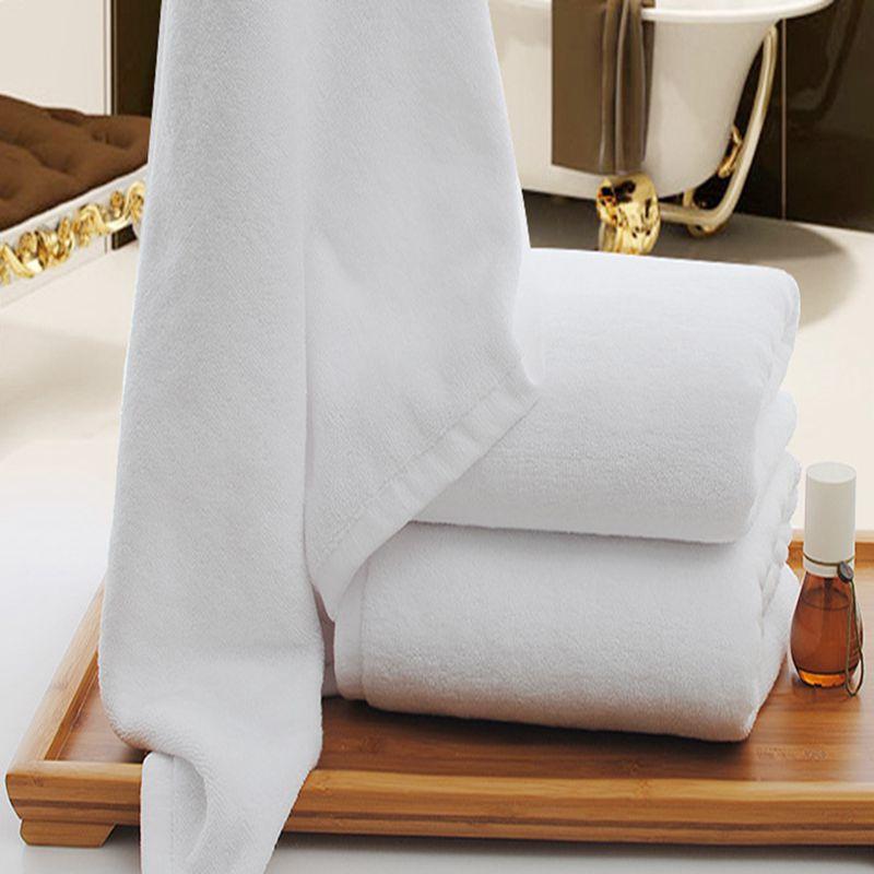 Στερεά Λευκή Μεγάλη Πετσέτα Μπάνιου - Αρχική υφάσματα - Φωτογραφία 3