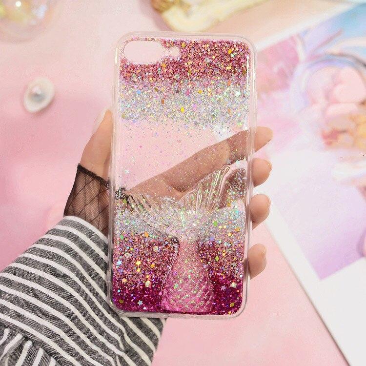 Phone Case For Huawei mate 9 10 lite pro Nova 2 plus 3i Cute women glitter  summer Mermaid tail soft TPU back cover Capa-in Rhinestone Cases from  Cellphones ... b669549a13bd