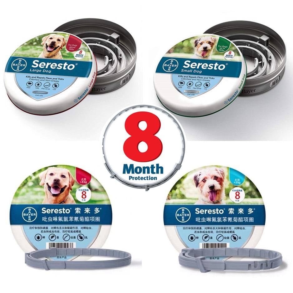 Original Authentic Bayer Seresto  8 Month Flea & Tick Prevention Collar For Dogs