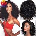 Dianteira Do Laço sintético Curto Encaracolado Perucas Ondulado Rendas Sintético Barato perucas Para as mulheres Negras Perucas Sintéticas Do Laço Frontal com o Bebê cabelo
