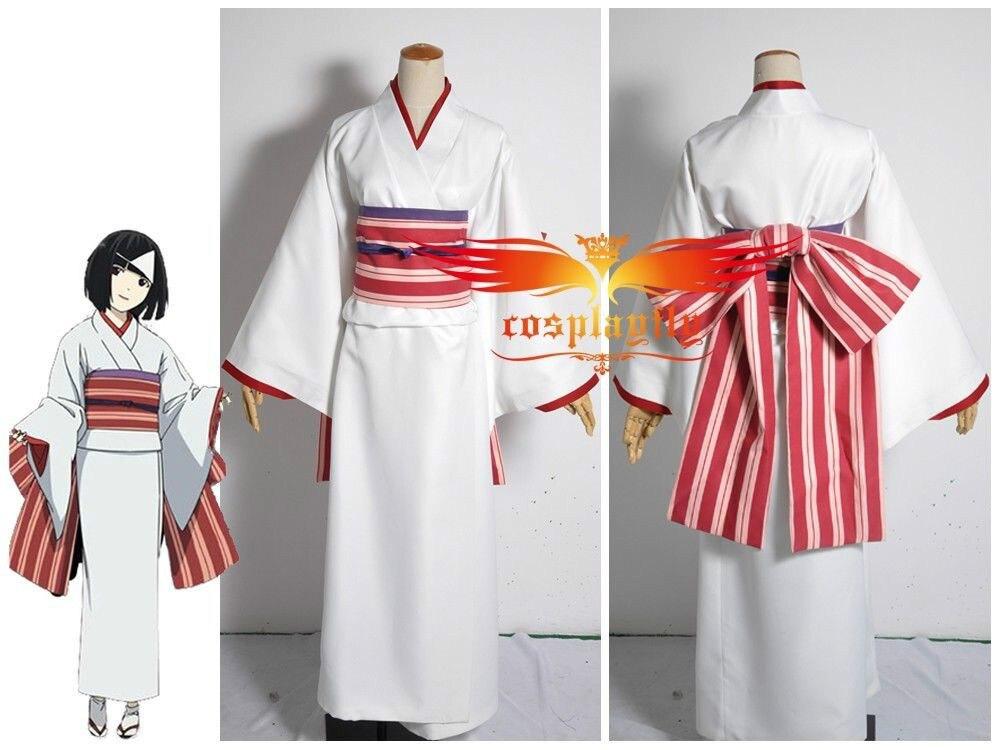 Noragami Yato Shinki Yukine Sekki Nora Hine Kimono Cosplay Costume Custom Made Any Size (Noragami) Kimono Fashion Outfit