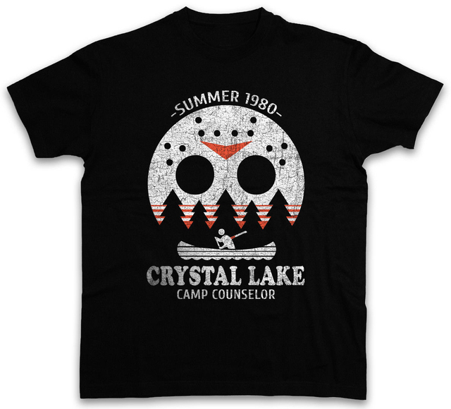 7cec0428 Crystal Lake Camp Counselor T Shirt The 13 Friday Jason Horror 13th ...