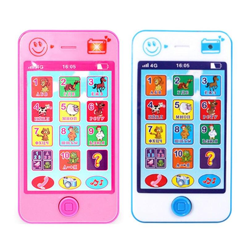 Máquinas de Formação de Aprendizagem Precoce do bebê Brinquedo Telefone Língua Russa Sons de Animais Crianças Vocal Eletrônico Educação música Telefone