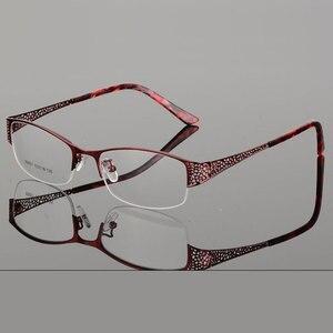 Image 4 - Reven Jate Mezza Senza Orlo Degli Occhiali Telaio Prescrizione Ottica Del Semi Rim Occhiali Montatura per Occhiali per Le Donne Delle Occhiali Femminile