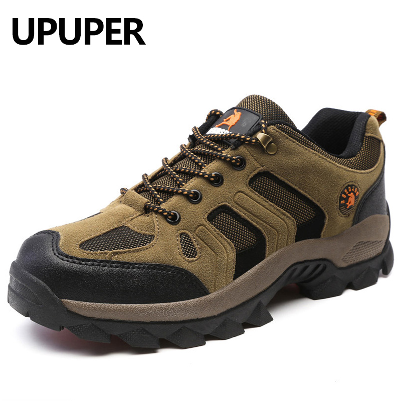 UPUPER 45 46 Outdoor Men Sneakers Fashion Breathable Waterproof Casual Shoes Large Size Lace-up Leather Men Flats Shoes Brown chilenxas autumn winter large size 35 45 leather men casual shoes lace up breathable lovers height increasing fashion waterproof