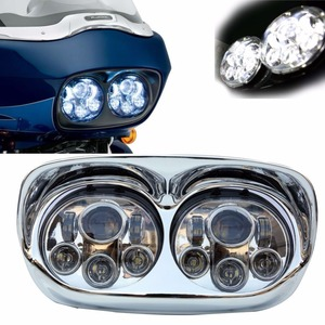 """Image 1 - New Arrival 5.75"""" Moto Road Glide LED Headlamp for Harley led headlights High Low Bulbs Motorcycle led Headlights"""