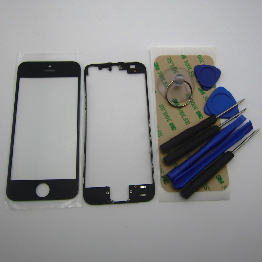 35ca3b60a9c Front LCD touch Screen Glass Lens with middle frame bezel housing  Replacement Parts