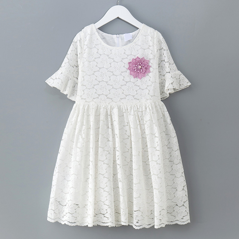 4 to 14 years kids & teenager girls summer lace overlay princess party dresses children fashion formal flare dress clothes