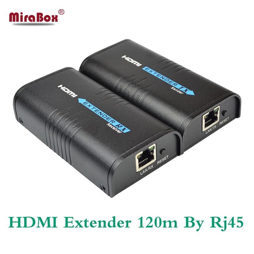 TCP IP HDMI Ethernet Extender Sur Cat5/5e/6 UTP STP LAN Câble Rj45 Réseau 120 m TX RX HDMI Émetteur et Récepteur sur IP