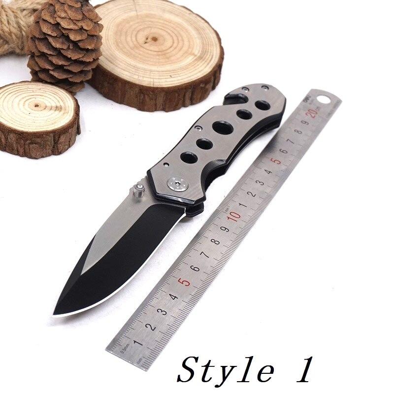 Карманный складной нож, тактический нож для выживания, лезвие из нержавеющей стали 440, походные охотничьи ножи, инструмент для повседневного использования, Мультитул - Цвет: Style 1