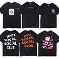 Brand-Clothing New 1:1 Anti Social Social Club Mens T Shirts High Quality Assc X MMJ Men's Shirt Anti Social Club Undefeated Tee