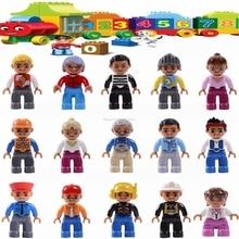 Legoing Duplo фигурки городская полиция домашний работник совместим с девочкой мальчик детские цифровые строительные блоки DIY игрушки Legoings