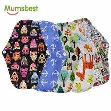 [Mumsbest] 5 шт. бамбуковые салфетки для беременных с древесным углем, моющиеся непромокаемые трусики, физиологические прокладки