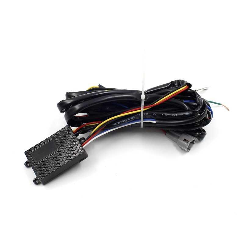 Yituancar 2X Многофункциональный светодиодный DRL Дневной ходовой светильник водонепроницаемый автомобильный Стайлинг белый прожектор и точечная лампа в одном с контроллером