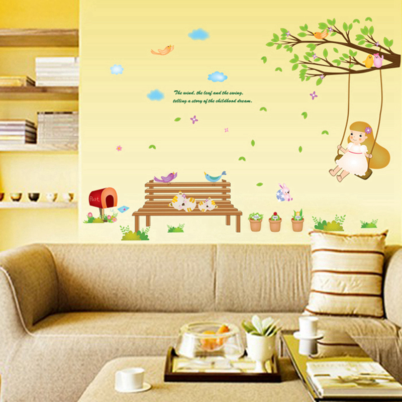 Zs Sticker Park Wall Stickers for Kids Rooms Daycare Wall ...