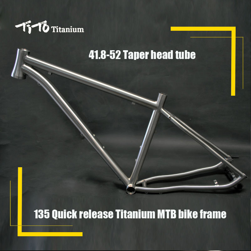все цены на FREE SHIPPING !!! TiTo Titanium MTB bike frame 26``   27.5``  29`` hidden type disc break seat 135 quick release bicycle онлайн