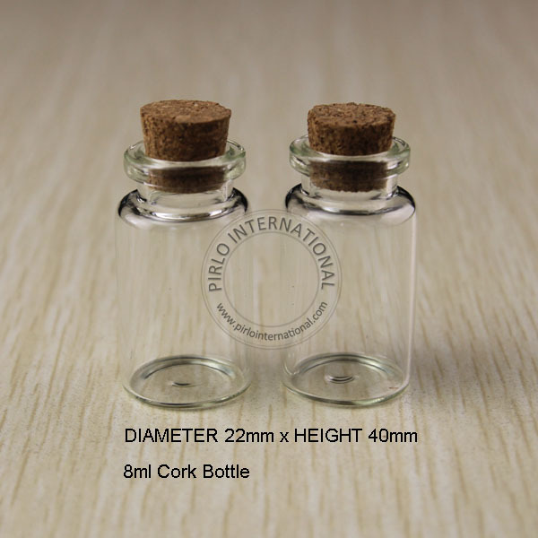 Decorative Bottles With Stoppers Impressive 24Pcs X 8Ml Small Mini Glass Bottles Vials Jars Test Tubes With Review