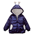 Новорожденных Девочек Одежда Зимняя Верхняя Одежда Пальто, Сердце Картины Дети Теплая Зима Корея моды Пальто Куртки, Теплые Девушки Одежда Принцесса, с капюшоном