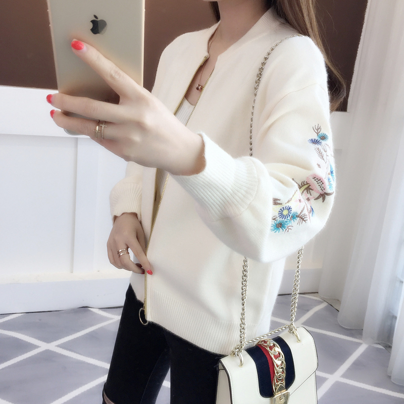 for spring wear in 2019 with Embroidered Baseball clothes and BF wind jacket for women's short and loose Korean Edition