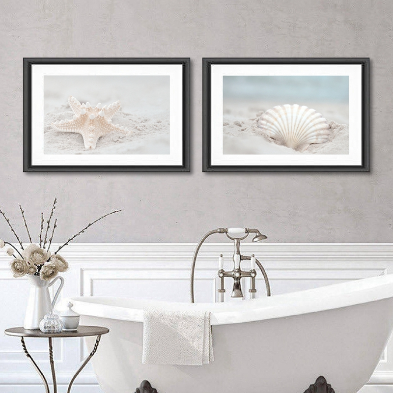 Seashell Photography Wall Art Prints Poster Nautical Decor Beach Landscape Picture Canvas Painting Coastal Art Bathroom Decor Painting Calligraphy Aliexpress