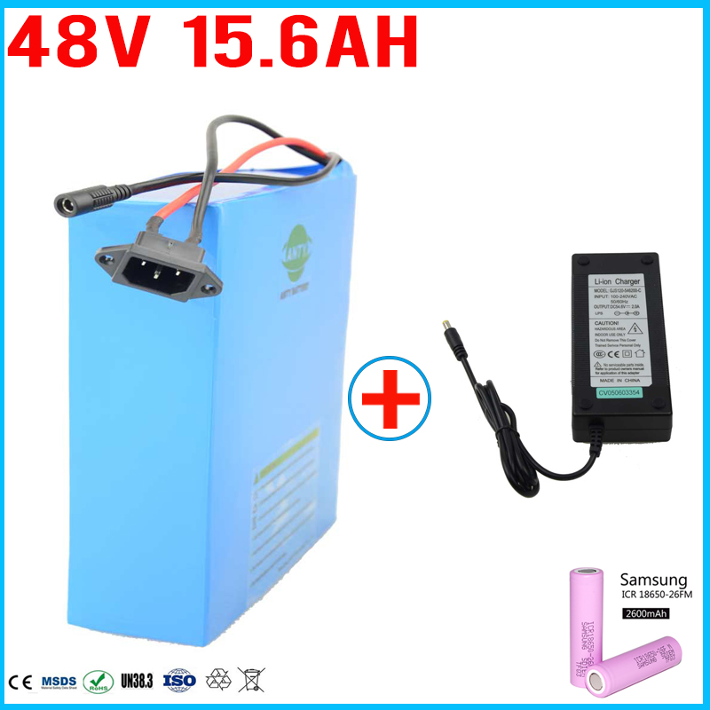 Free Shipping and Customs Duty Electric Bike Battery 48v 15ah for Samsung 16850 Cell with 2A Charger 30A BMS eBike Battery 48v eu us free customs duty 48v 550w e bike battery 48v 15ah lithium ion battery pack with 2a charger electric bicycle battery 48v