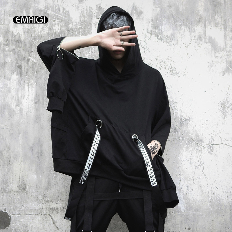 Men Fashion Causal Wide Leg Pant Japan Style Black Harem Skirt Trousers Streetwear Hip Hop Gothic