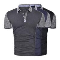 Zogaa брендовая одежда новая мужская рубашка Поло однотонная Повседневная хлопковая рубашка поло с коротким рукавом дышащие рубашки поло муж...