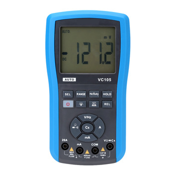 VC105 Water Resistant LCD Digital Multimeter DC AC Voltage Current Resistance Diode Testing Auto Range