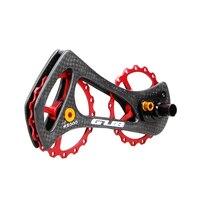 Liga de alumínio gub bicicleta rolamentos de cerâmica guia desviador traseiro jockey roda polia conjunto de fibra de carbono ss