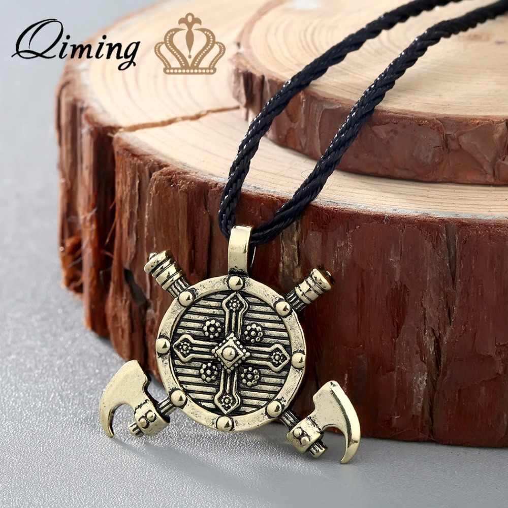Thor topór wikingów męska naszyjnik kobiety srebrny Kolovrat słowiańskie amulety młot thora moment obrotowy komunikat wisiorek naszyjnik biżuteria Man