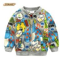 Kreskówka Graffiti Alien Chłopcy Kurtki Nowy Jesień 2017 Baby Boy Baseball Jacket Marka Odzieżowa Dla Dzieci Odzież Dla Dzieci Kurtki & Płaszcze