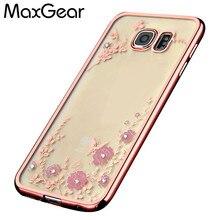 Secret Garden Телефон Случае Аксессуары Для Samsung Galaxy S5 S6 S7 Край Поднялся Золотой Каркас Диаманта bling Цветок Цвету Крышка роскошные