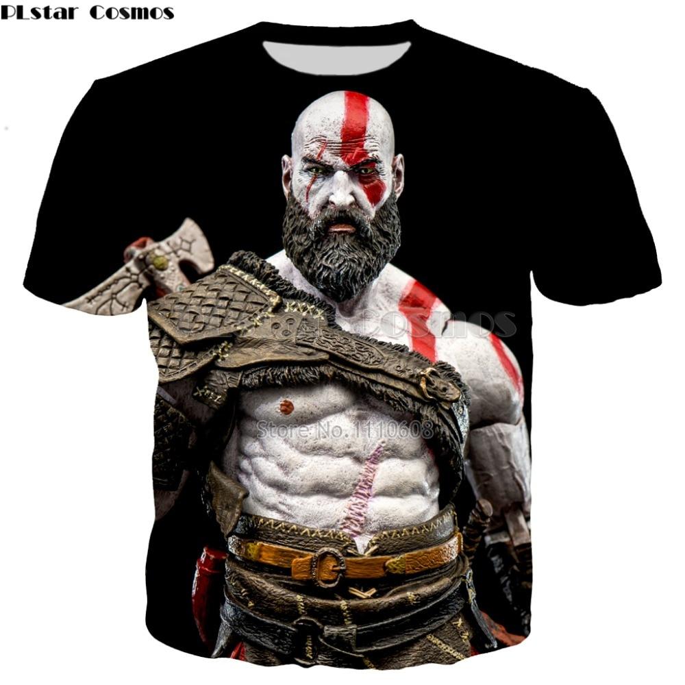 YX GIRL summer New Hipster 3d t-shirt Classic game God of War print For Men Women casual O-Neck t shirt Cool tee tops
