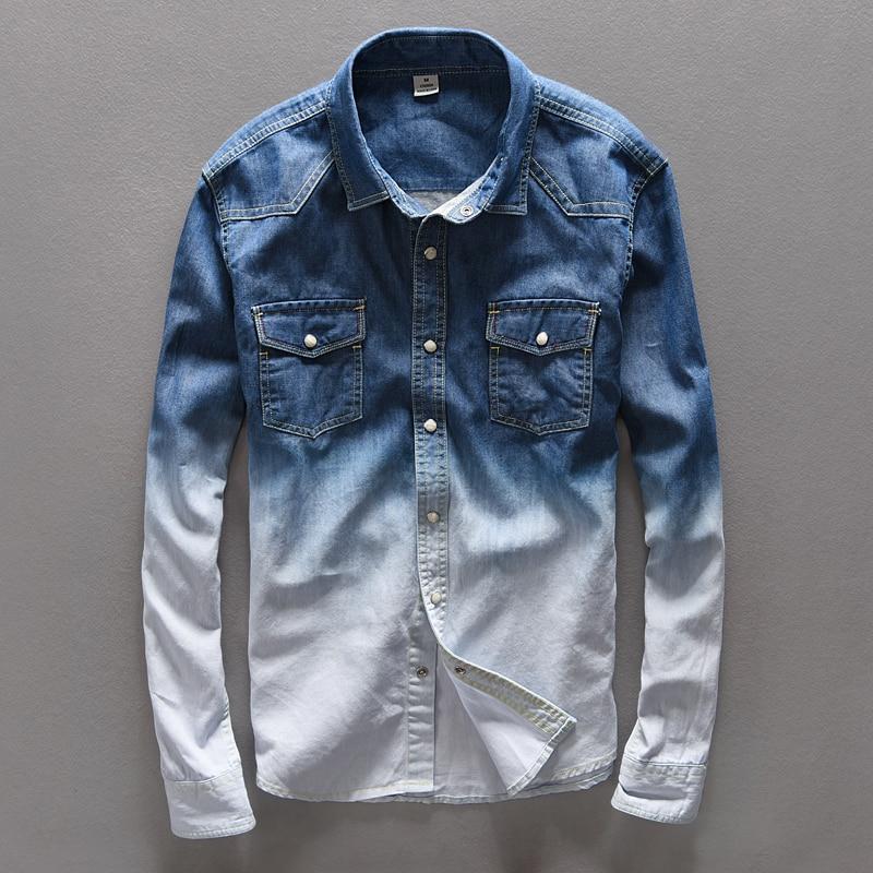 Suehaiwe's Brand cămașă blugi bărbați blugi blugi cămașă pur - Imbracaminte barbati