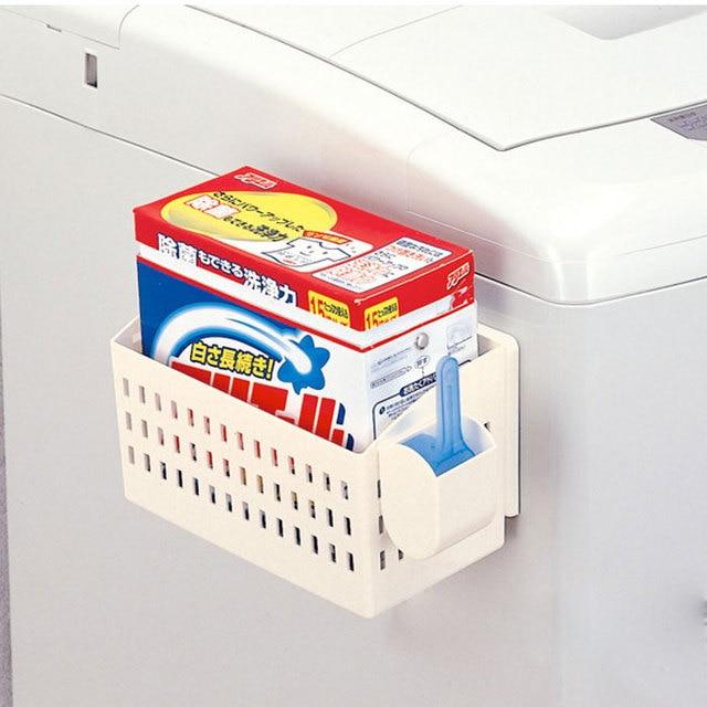 Japanese Design Fridge Magnet Storage Organizer Washing Machine Accessory Laundry Detergent Soap Rack Holder Bathroom