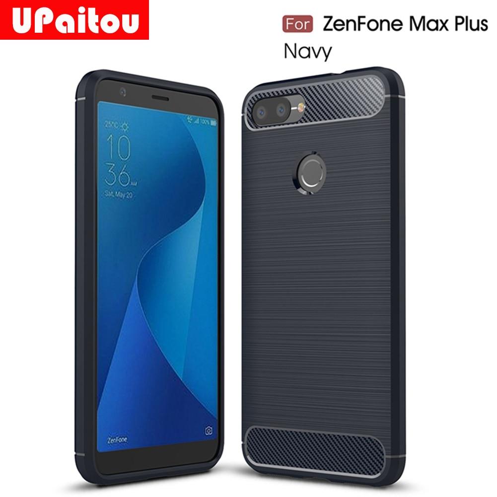 UPaitou For Asus Zenfone Max Plus (M1) ZB570TL Case Ultra Thin Carbon Fiber Soft Cover For Zenfone Max Plus (M1) ZB570TL Cover